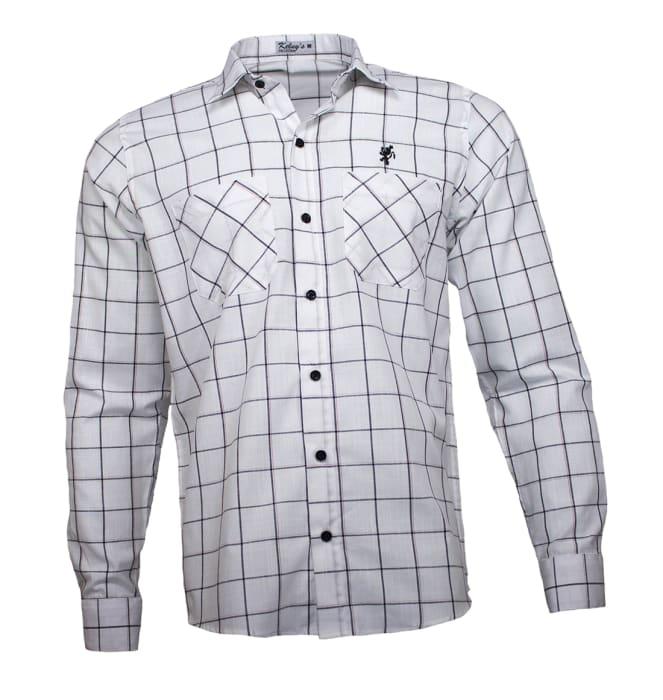 camisa-quadriculada-branca-manga-longa